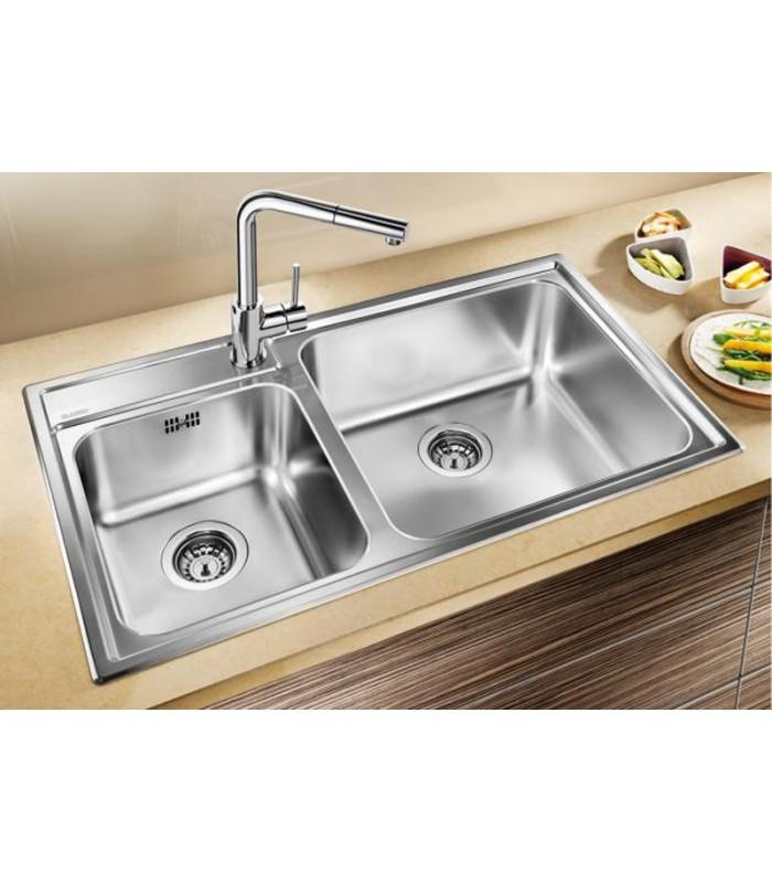 Lavello rettangolare da cucina acciaio inox BLANCO NAYA 9