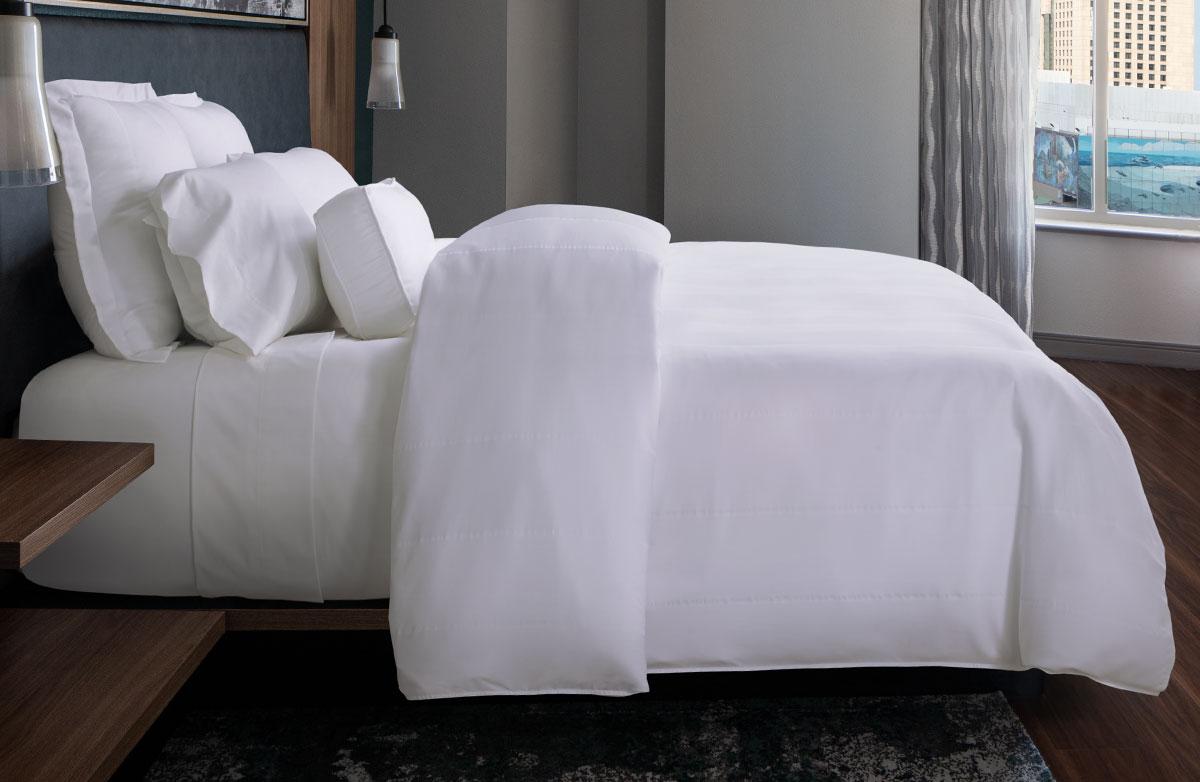 Buy Luxury Hotel Bedding from Marriott Hotels  Birds Eye Stripe Bed  Bedding Set