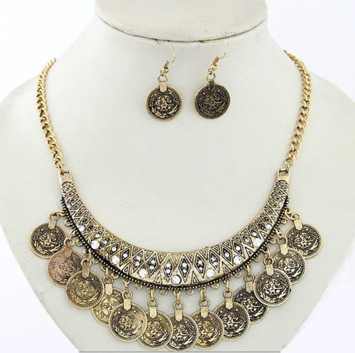 Fashion Coin Style Jewelry Sets