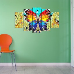 butterfly wall canvas