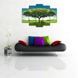Green Tree wall Canvas