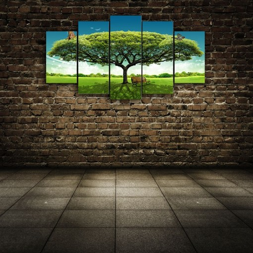 Green Tree wall Canvas
