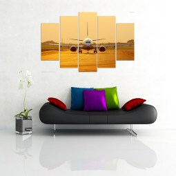 Airplane wall canvas