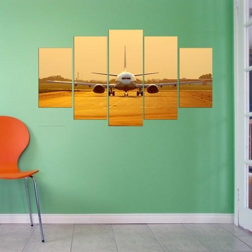 Airplane wall canvas