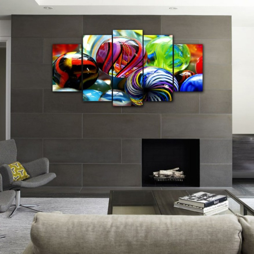 Big Colorful Marble wall canvas