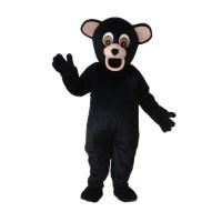 Black Dog Bear Mascot Adult Costume
