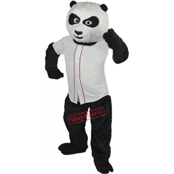 Baseball Panda Bear Mascot Costume