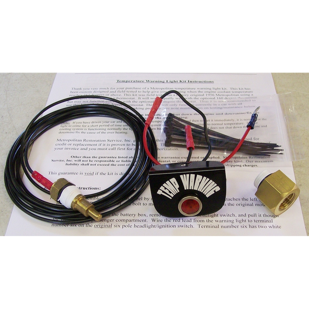 medium resolution of temperature warning light kit