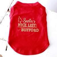 Santa's Naughty List and Nice List Holiday Pet Shirt