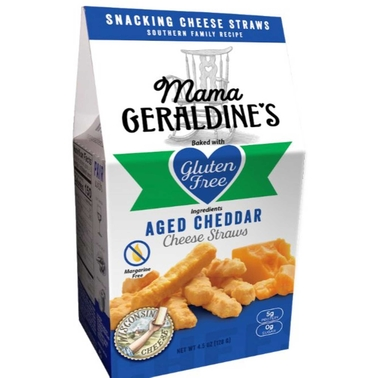 Mama Geraldine's Gluten Free Cheese Straws 12 Units. 4.5 Oz. Each | Snacks | Food & Gifts | Shop The Exchange