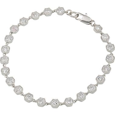 Lauren Ralph Lauren Headlines Hexagon Flex Bracelet