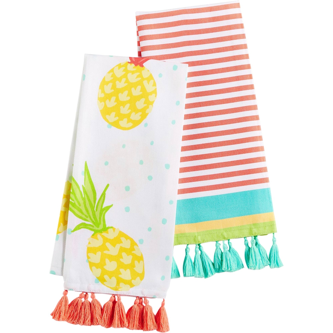 martha stewart kitchen towels how to arrange pots and pans in collection 2 pc fiesta towel set