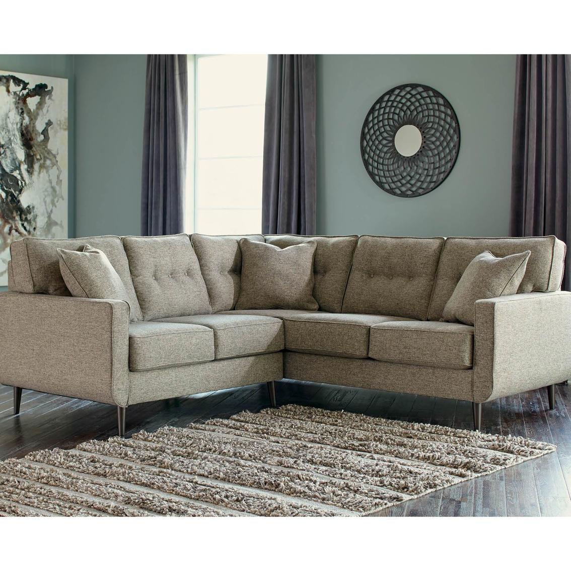 sectional sofa corner wedge best power recliner sofas benchcraft dahra 2 pc laf loveseat raf