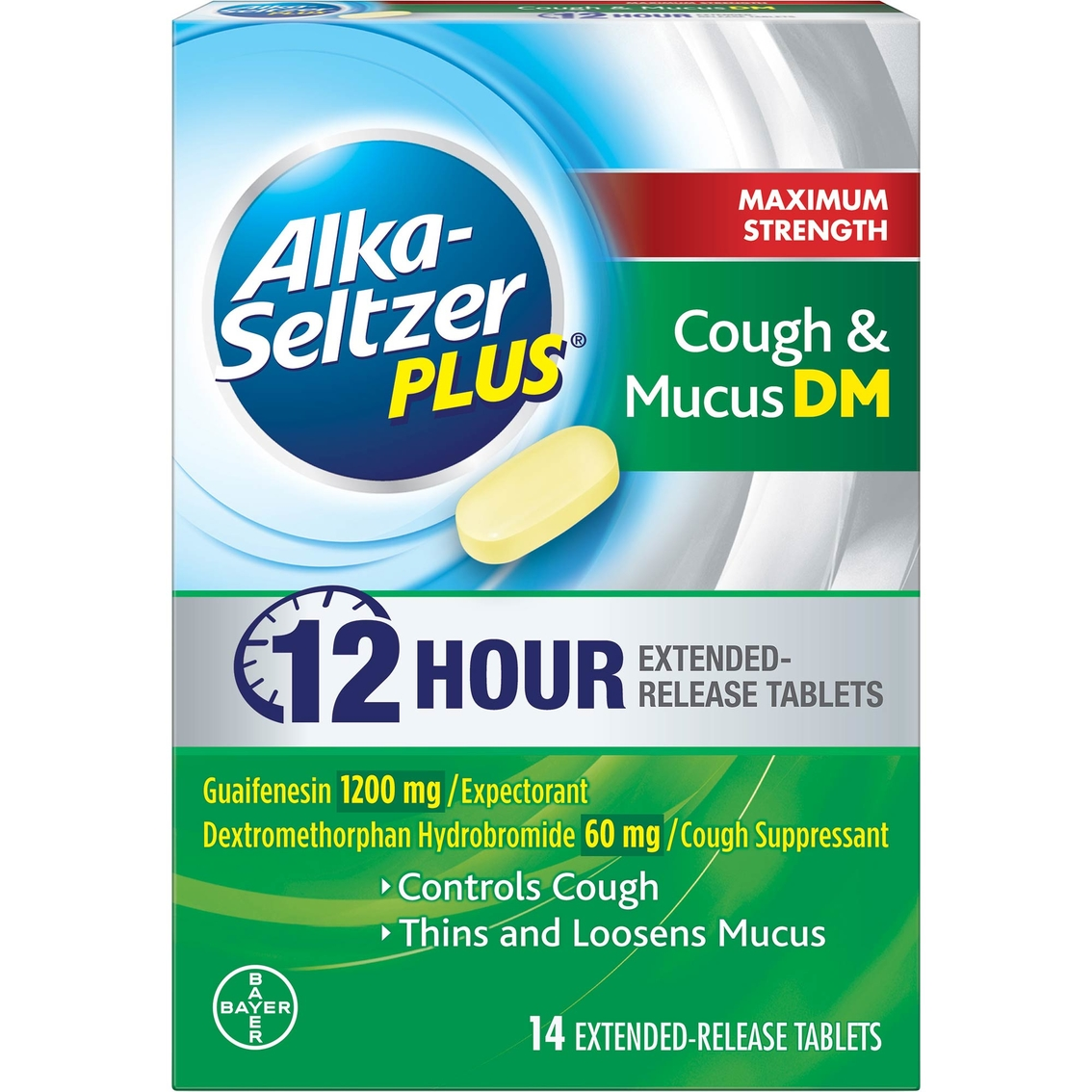 Alka-seltzer Plus Max Strength Cough And Mucus 14ct | Cold ...