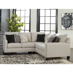 2 Pc Laf Sectional Sofa Signature Design By Ashley Harvest Hallenberg