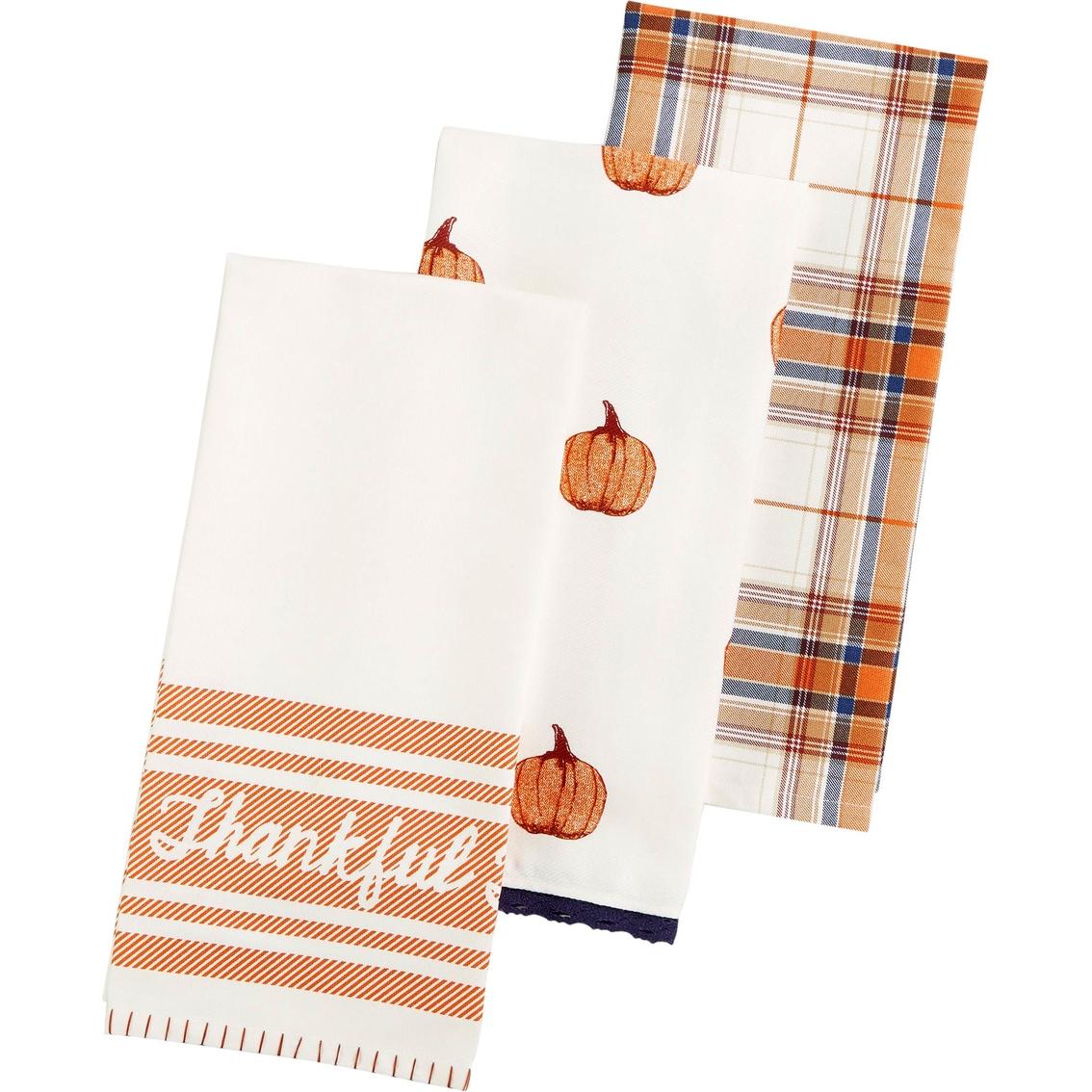 martha stewart kitchen towels flooring ideas for collection 3 pc harvest towel set