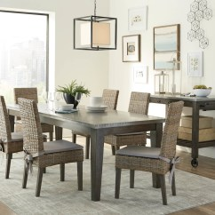 Rustic Metal Kitchen Chairs Jehs Laub Lounge Chair Scott Living Davenport Top Dining Table