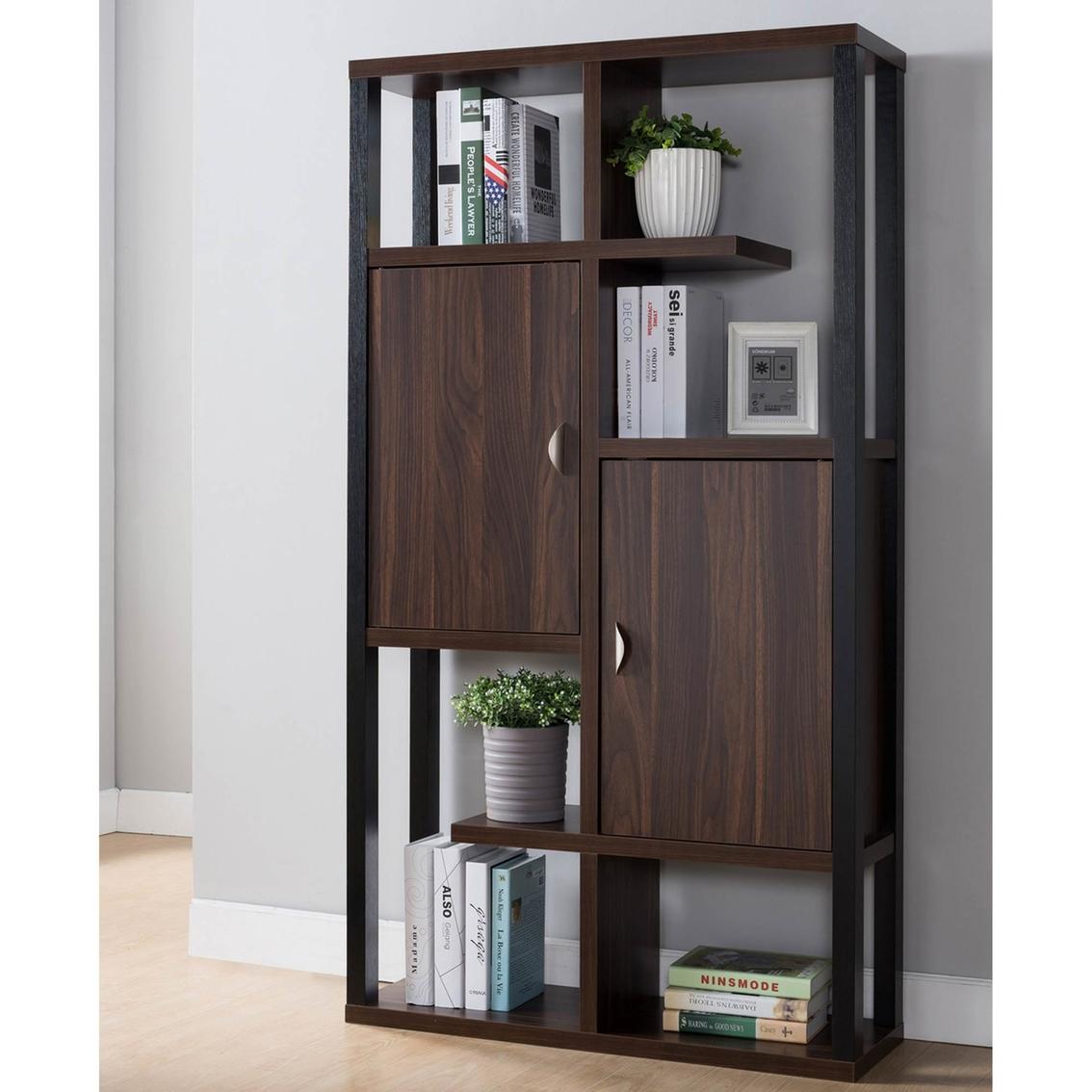 Furniture Of America Bourque Contemporary 2 Cabinet Open