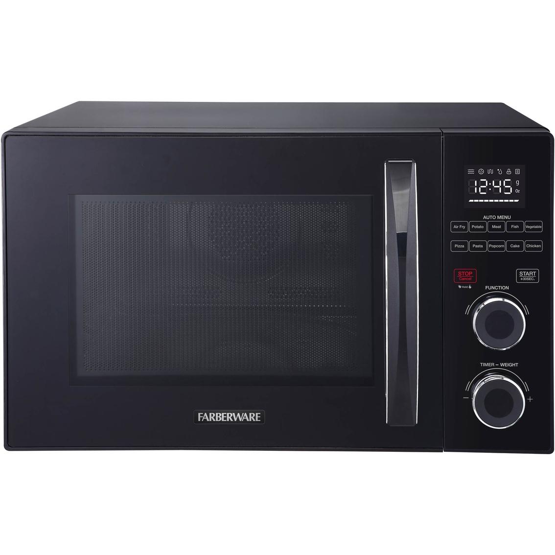 farberware gourmet 1 0 cu ft 1500 watt microwave oven with healthy air fry