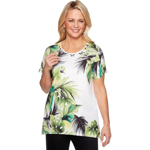 Alfred Dunner Knit Parrot Top Casual Shirts Clothing Exchange