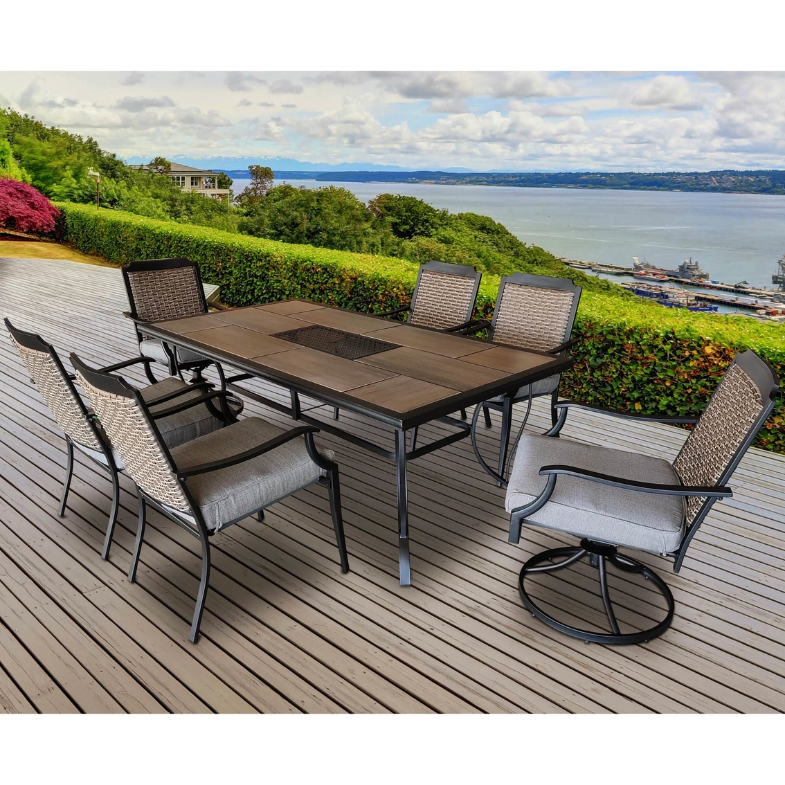 courtyard creations st louis 7 pc outdoor dining set