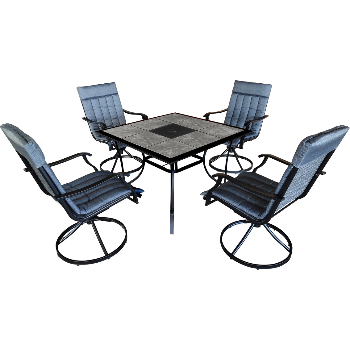 courtyard creations holbrook 5 pc outdoor dining set