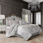 J Queen New York Bel Air Silver California King 4 Pc Comforter Set Comforters Quilts Household Shop The Exchange