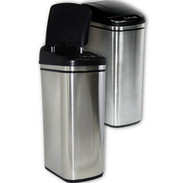 Nine Stars 11.2 Gal. Infrared Trash With Liner Ring Cans Home & Appliances