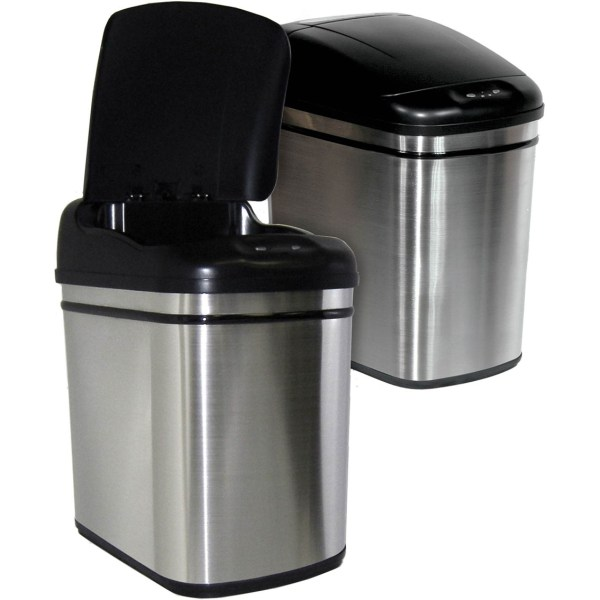 Nine Stars 6 Gal. Infrared Trash With Liner Ring Cans Home & Appliances