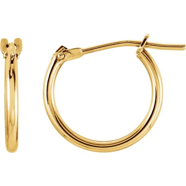 Karat Kids 14k Yellow Gold 12mm Hoop Earrings Children' Jewelry & Watches