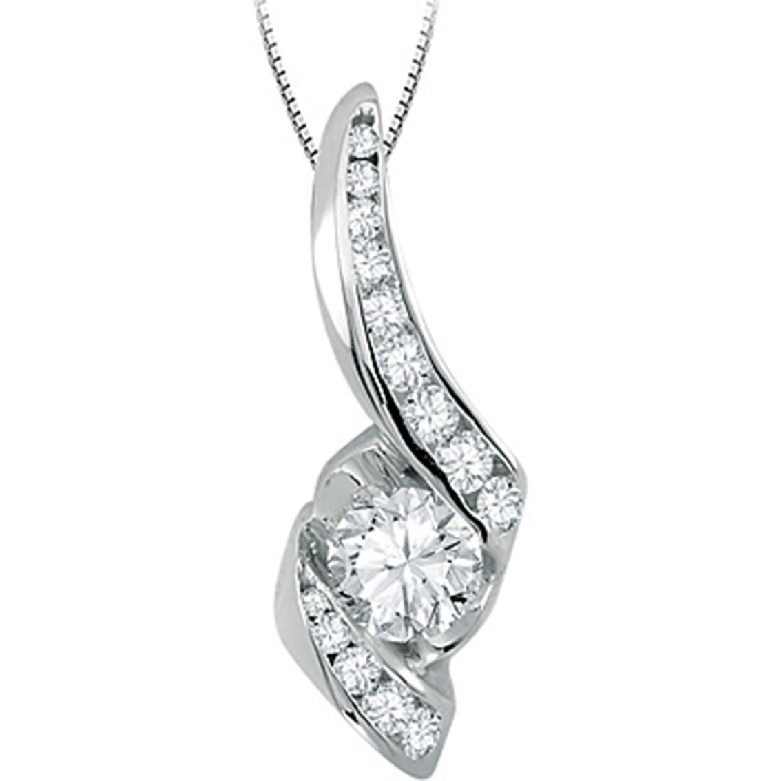 Sirena 14k White Gold 1 2 Ctw Diamond Pendant