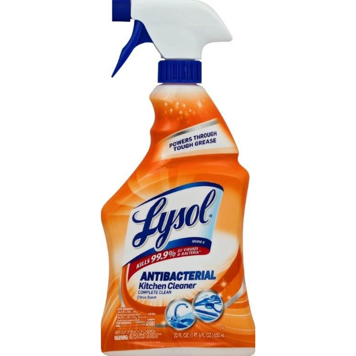 lysol antibacterial kitchen cleaner ash cabinets citrus scent cleaners
