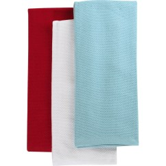 Martha Stewart Kitchen Towels How To Build Outdoor Collection 3 Pc Pique Towel Set