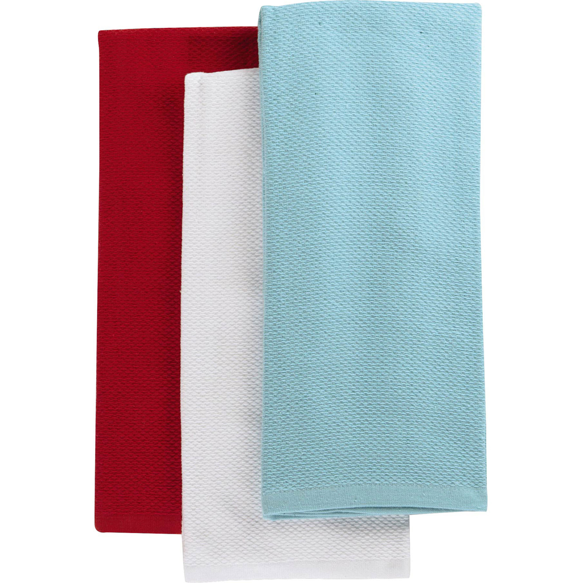 martha stewart kitchen towels can lights collection 3 pc pique towel set