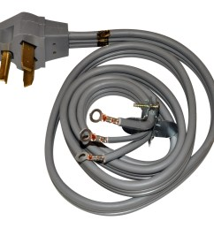 whirlpool 3 prong 4 ft 220v dryer power cord [ 1134 x 1134 Pixel ]