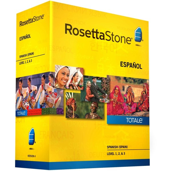 Rosetta Stone Version 4 Totale Spanish Spain Levels 1-3 Language Software Electronics
