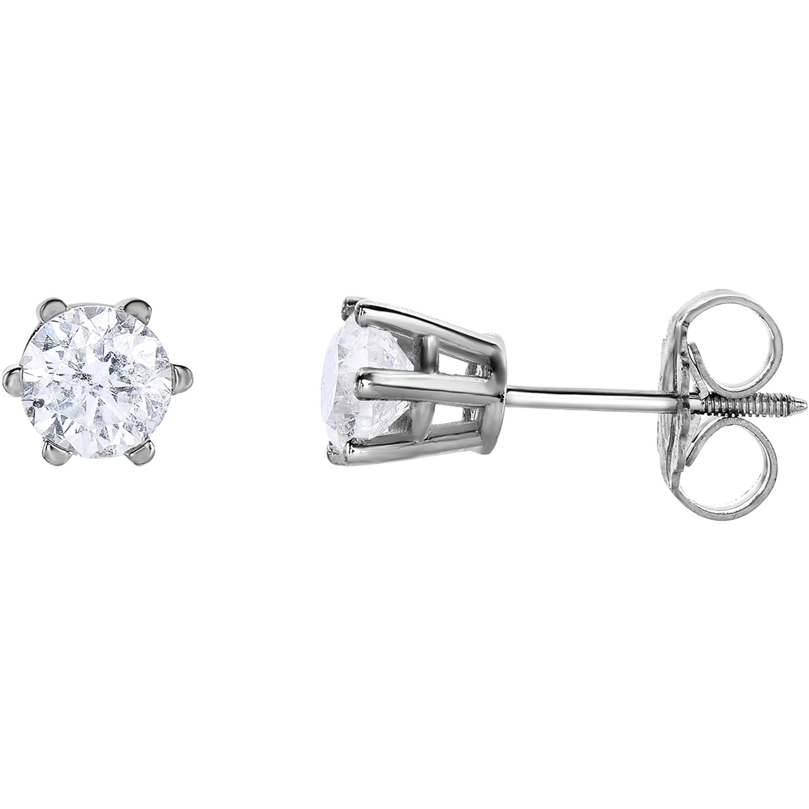 14k Gold 1 2 Ctw Round Diamond Stud Earrings