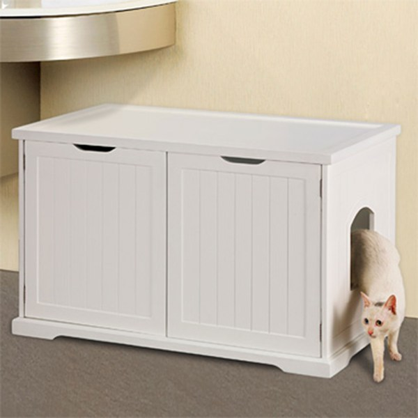 Merry Products Cat Washroom Bench Litter & Waste