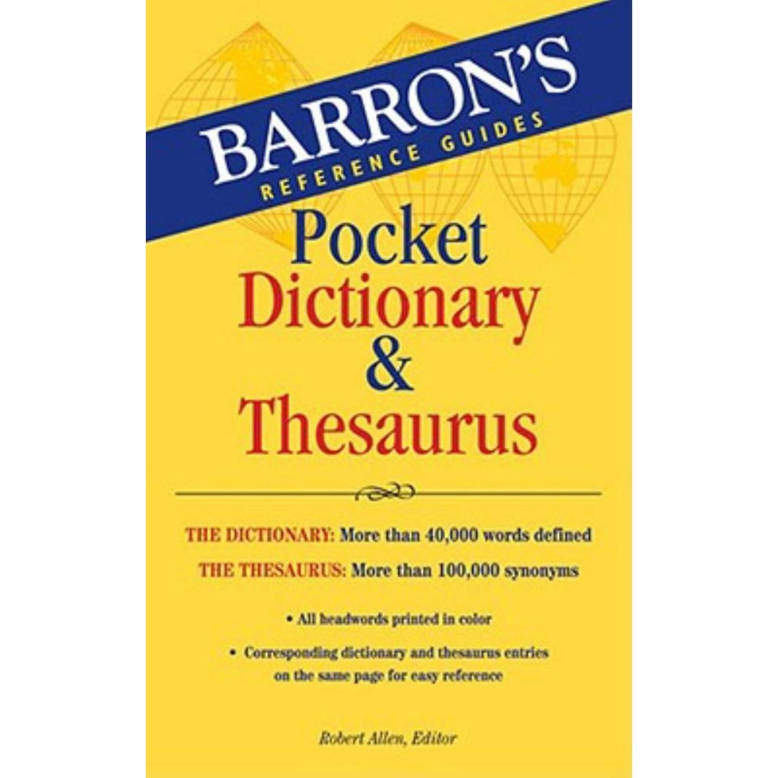Barron S Pocket Dictionary And Thesaurus