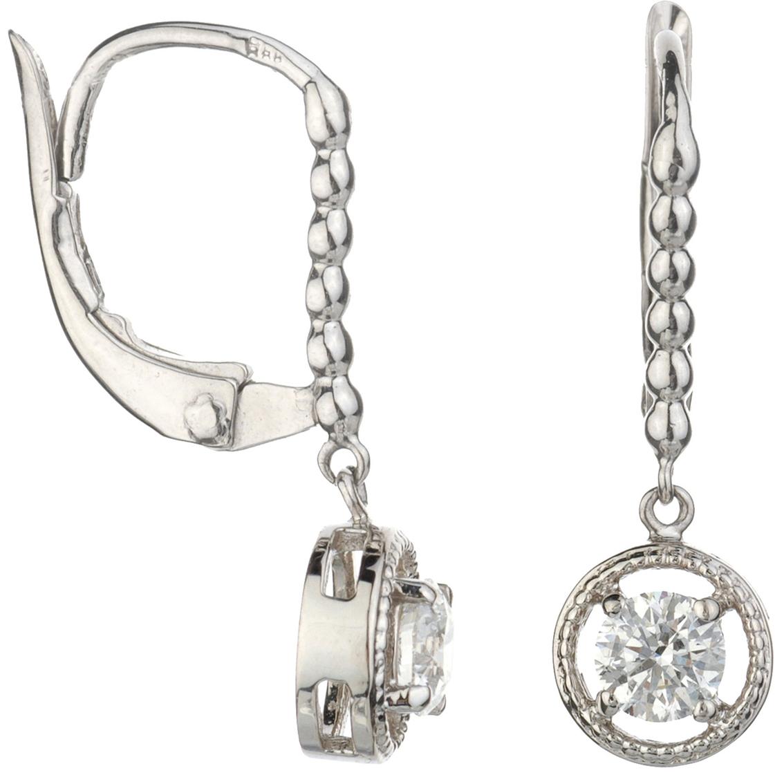 14k White Gold 1 2 Ctw Diamond Dangle Earrings