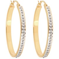 Cheap yellow gold hoop earrings | Cool costume jewelry for you