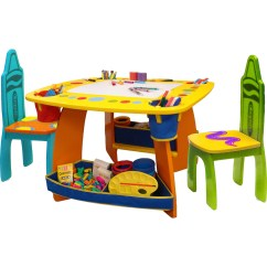 Baby Table And Chairs Overstock Accent Chair Grow N Up Crayola Set Easels Tables