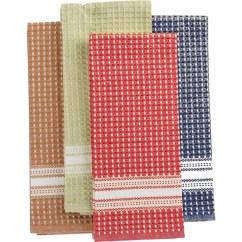 Martha Stewart Kitchen Towels Crosley Islands Collection Waffle Weave Set