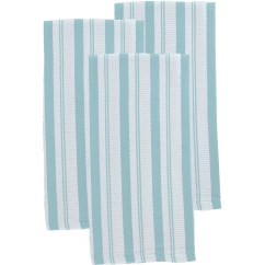Martha Stewart Kitchen Towels Dash Collection Striped 3 Pk