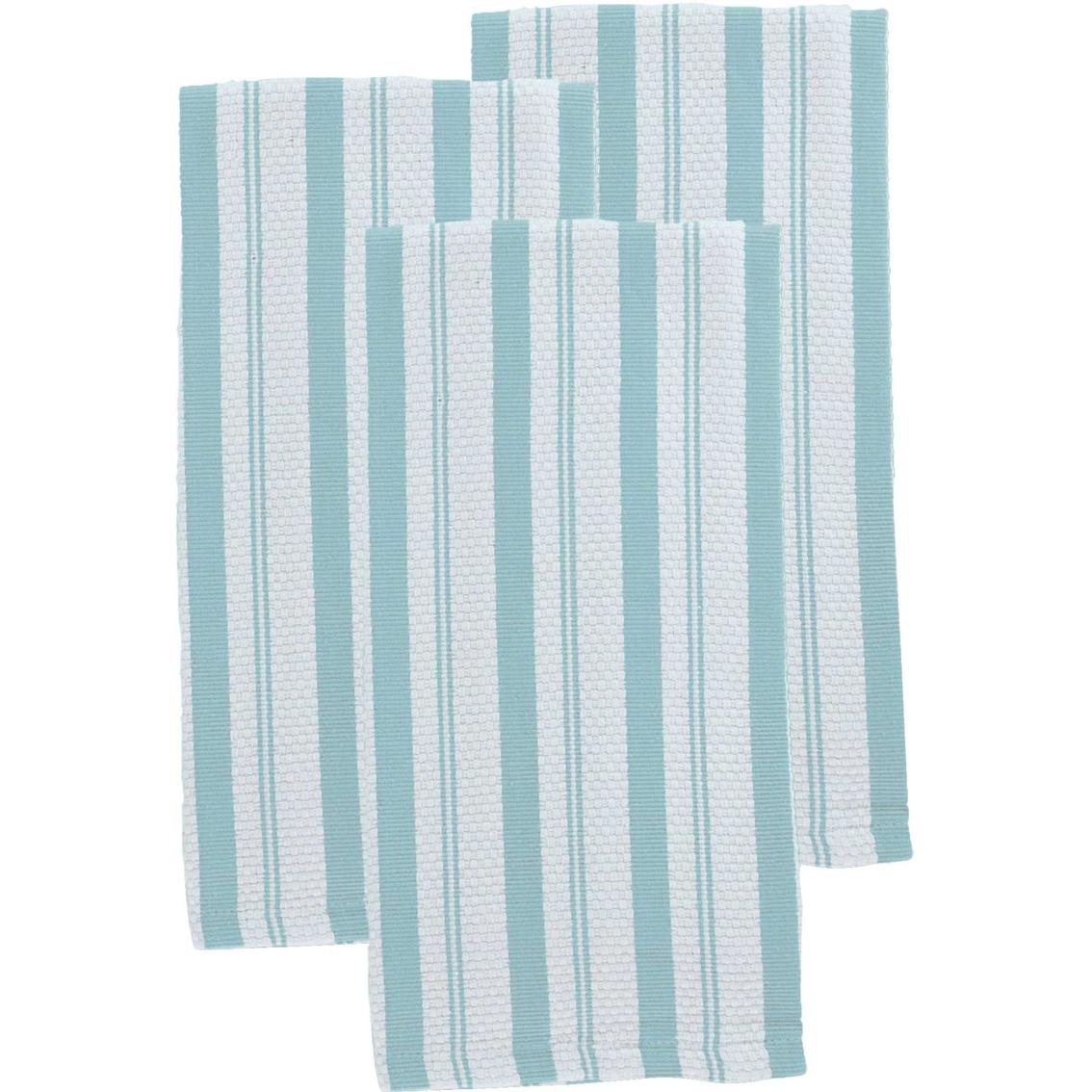 martha stewart kitchen towels cabinets organizer collection striped 3 pk