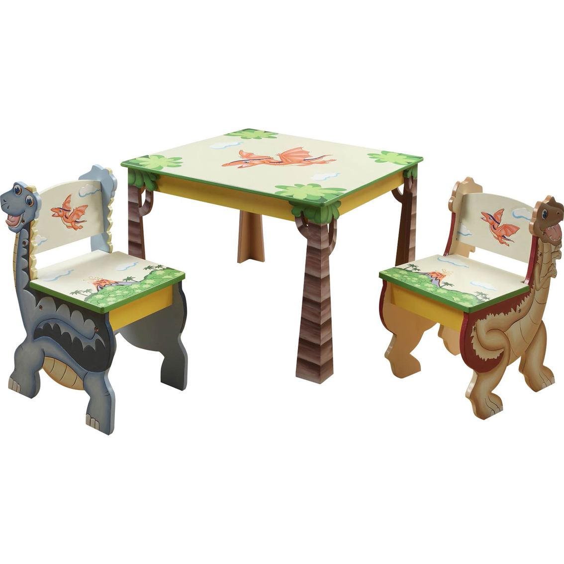 play tables and chairs hot pink chaise lounge fantasy fields dinosaur kingdom 3 pc table chair set