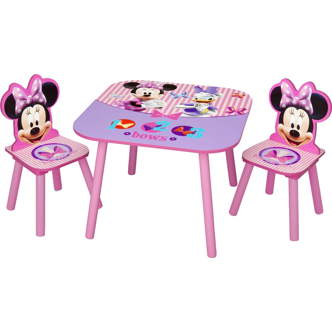 minnie table and chairs chair covers classroom disney mouse 3 pc set