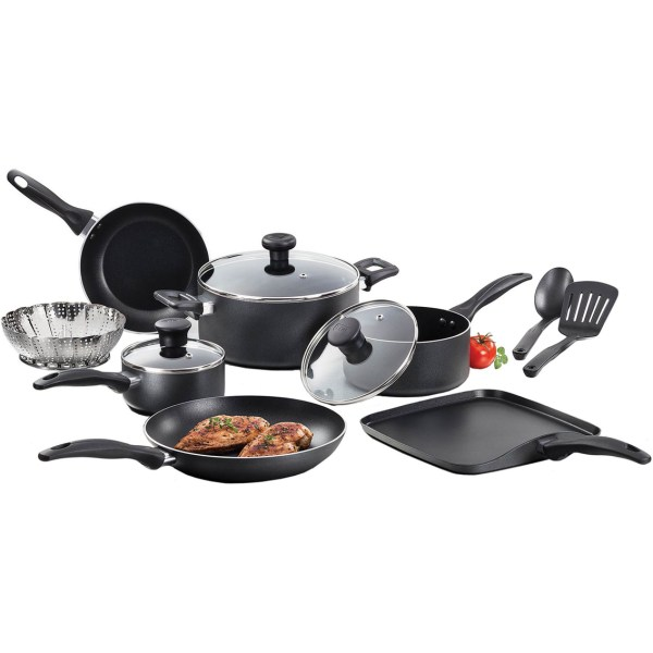 T-fal Nonstick Easy Care 12 Pc. Cookware Set -stick