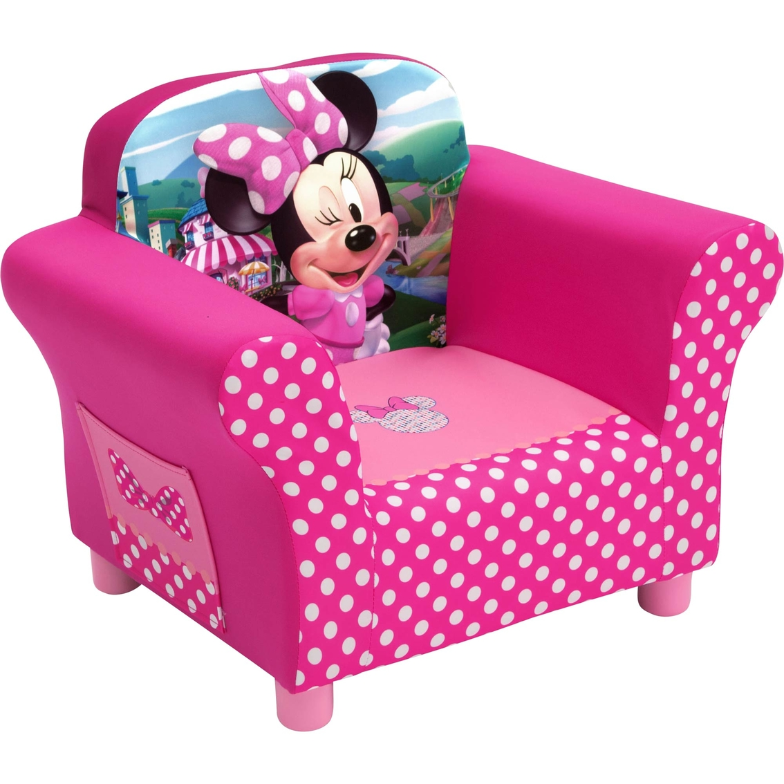minnie mouse upholstered chair leather nailhead disney chairs and play