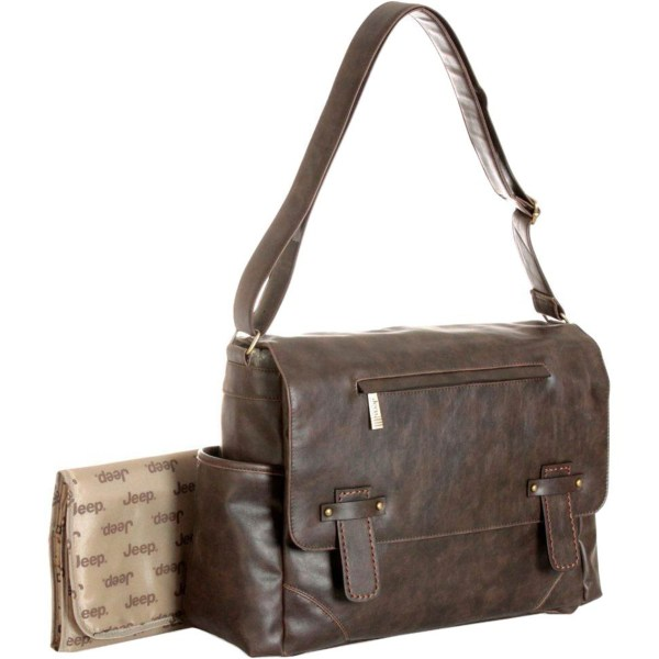 Jeep Faux Leather Messenger And Diaper Bag Bags & Accessories Baby Toys